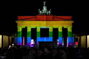 Brandenburger Tor Regenbogen