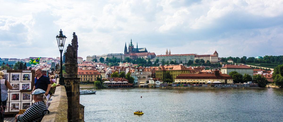 Prag Blick von der Altstadt auf die Prager Burg